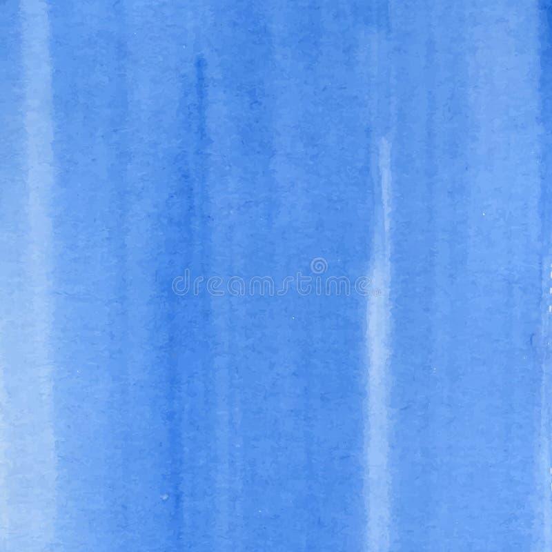 Textura azul de la acuarela stock de ilustración