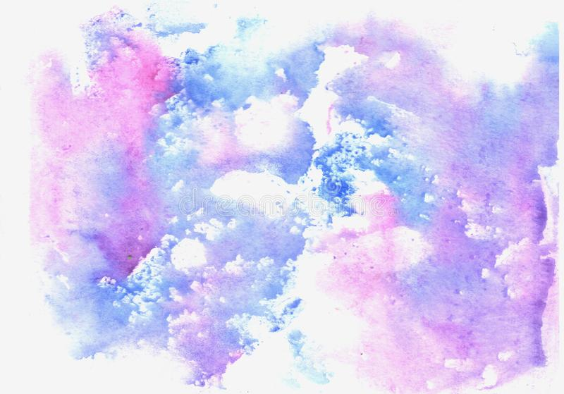 Textura azul de la acuarela libre illustration