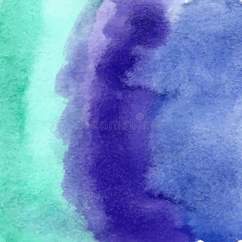 Textura azul de la acuarela de la turquesa ilustración del vector