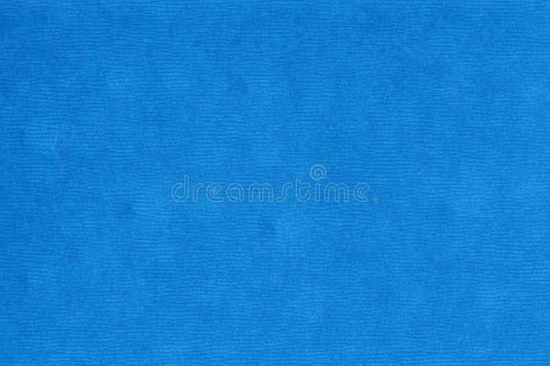 Textura azul de la pana de la tela del terciopelo con los modelos de costura horizontales libre illustration