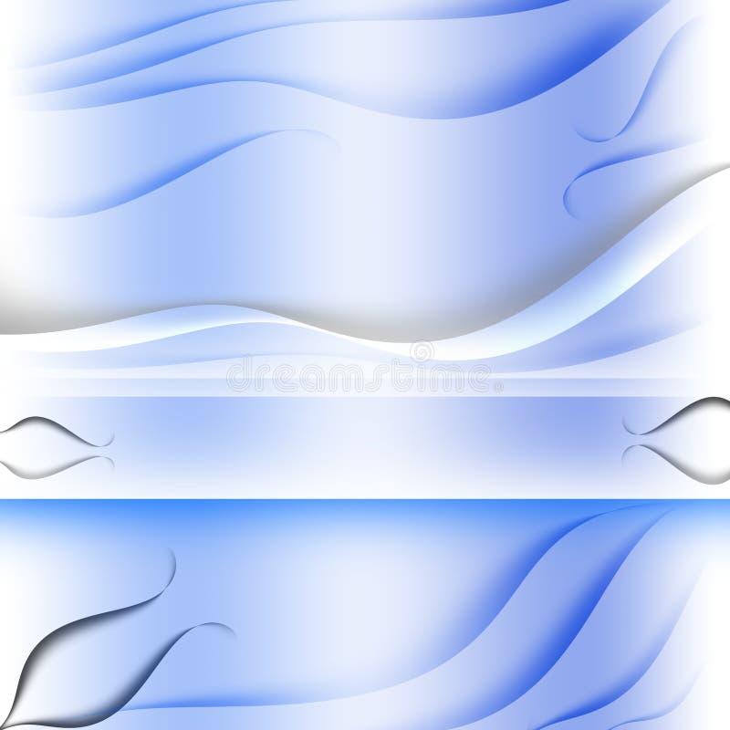 Textura azul de las capas de la tarjeta postal ilustración del vector