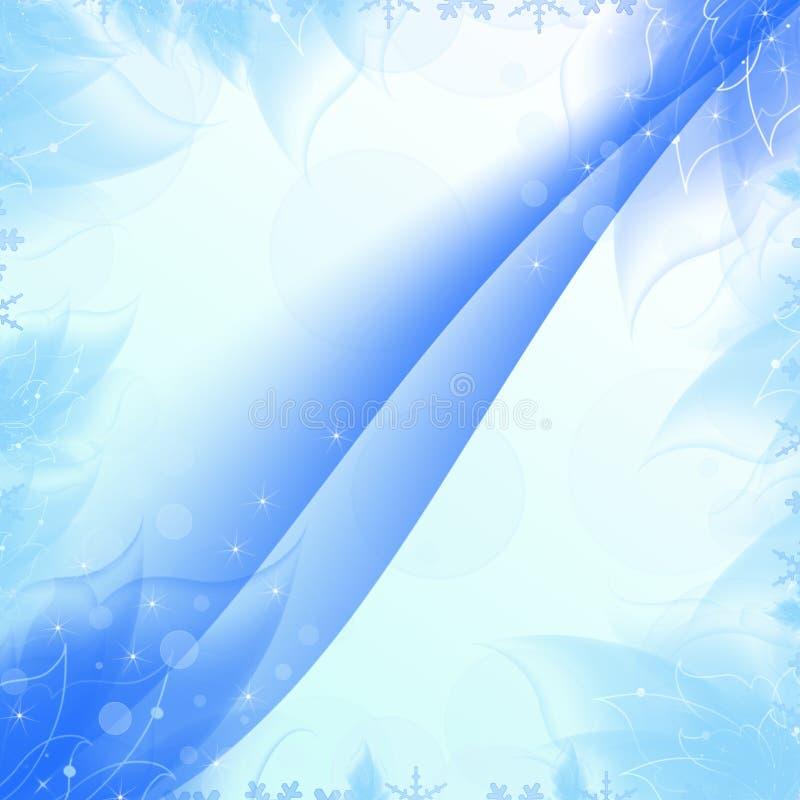 Textura azul de las capas de la tarjeta postal stock de ilustración
