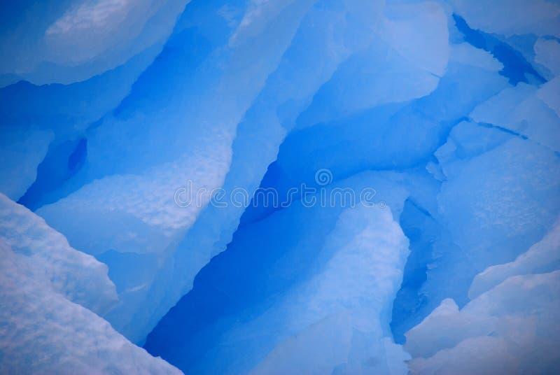 Textura azul del cristal de hielo imagen de archivo libre de regalías