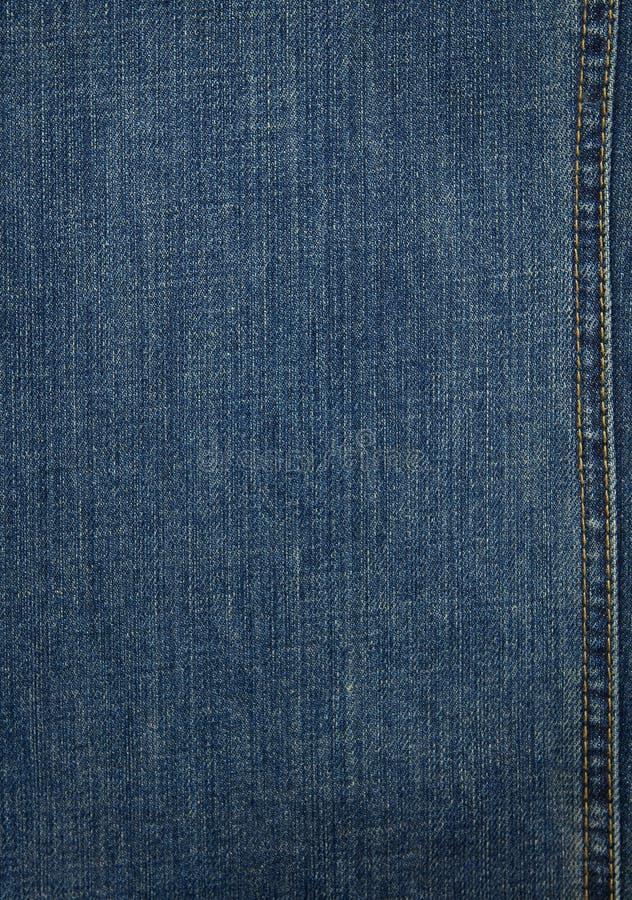 Textura azul del dril de algodón imagen de archivo
