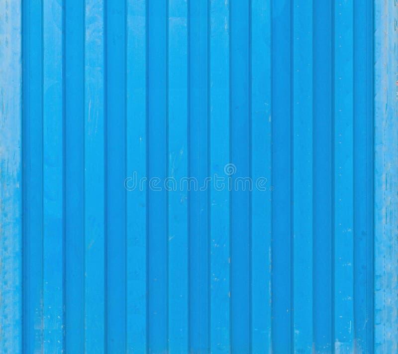 Textura azul del envase del buque de carga foto de archivo