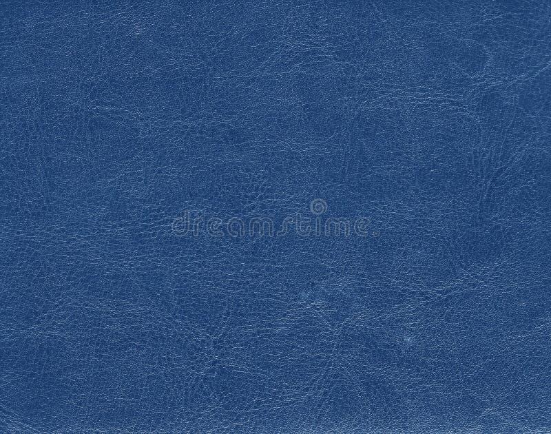 Textura azul do couro da cor imagens de stock royalty free