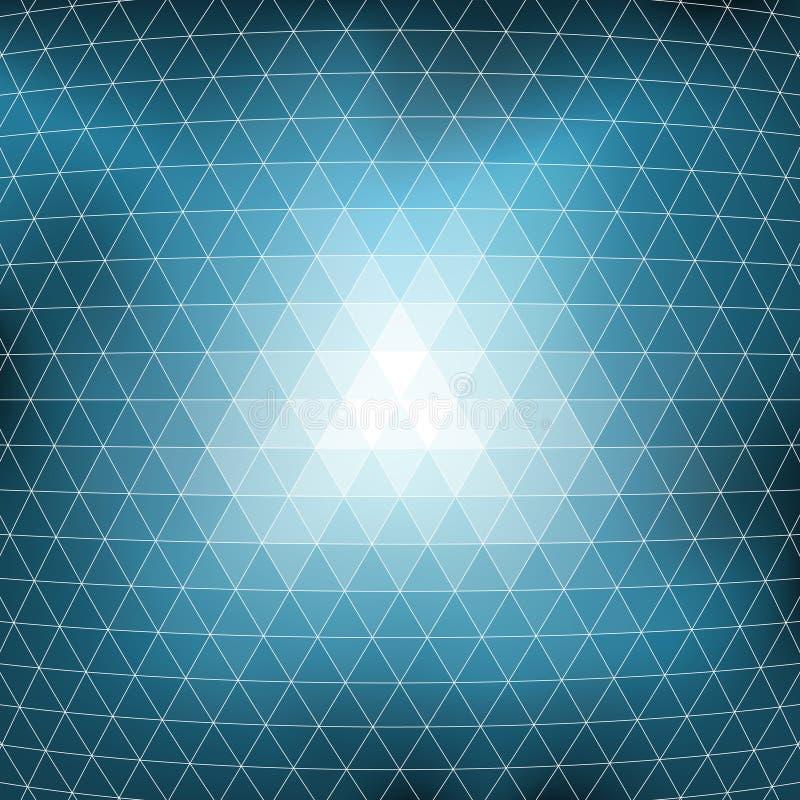Textura azul do fundo do mosaico ilustração stock