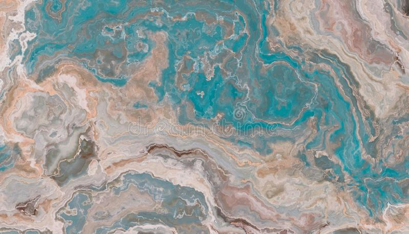 Textura azul do mármore de ônix imagem de stock