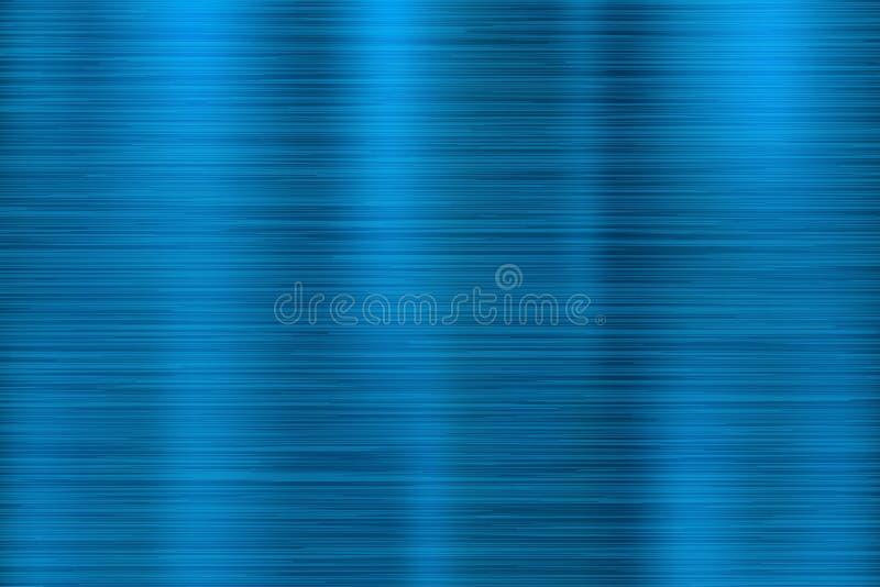 Textura azul do metal Superfície 3d brilhante riscada ilustração stock