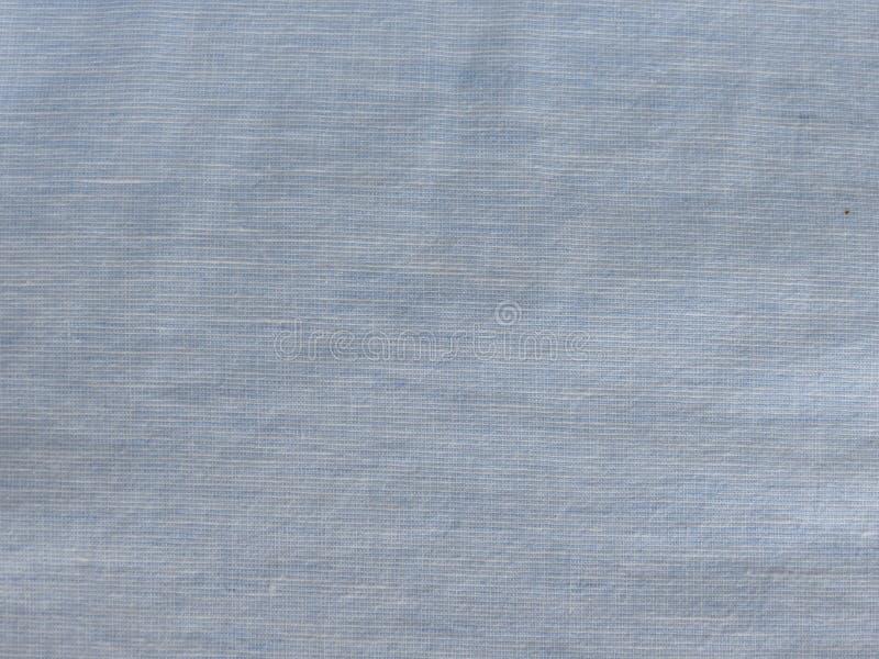 Textura azul do tecido de algodão imagem de stock royalty free