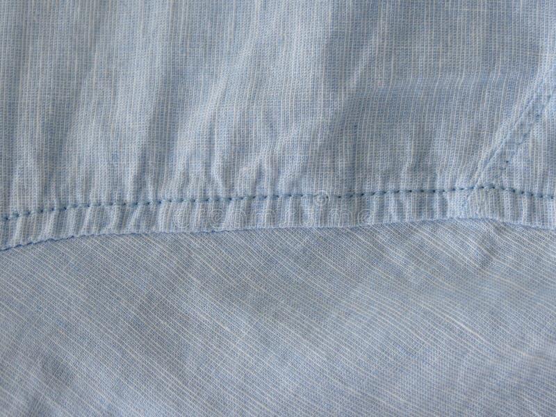 Textura azul do tecido de algodão fotografia de stock