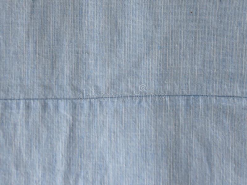 Textura azul do tecido de algodão foto de stock royalty free