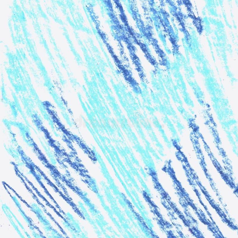 Textura azul dos elementos do Grunge M?o pastel tirada ilustração stock