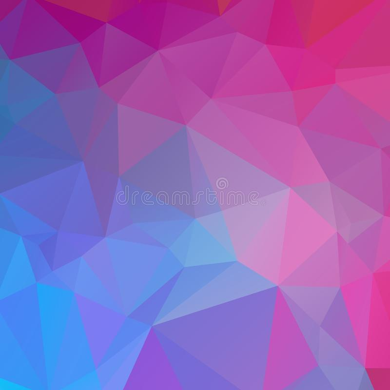 Textura azul e cor-de-rosa do polígono fotografia de stock