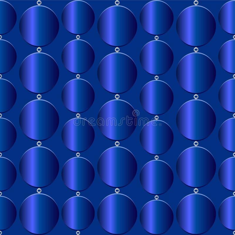 Textura azul inconsútil con los círculos azules ilustración del vector