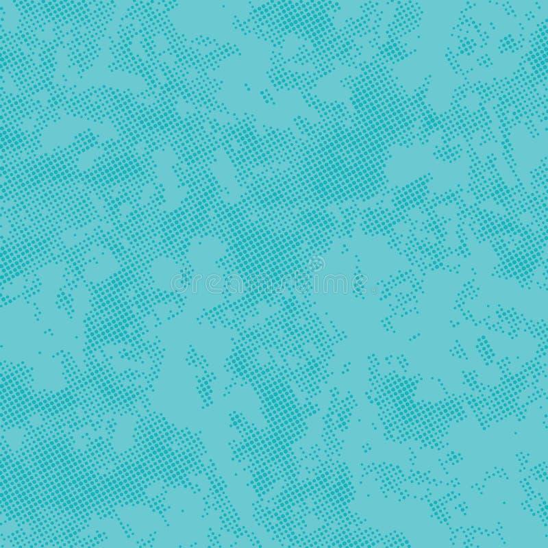 Textura azul vívida do vetor, fundo abstrato da aflição, teste padrão de pontos de intervalo mínimo, textura moderna da cópia de  ilustração royalty free
