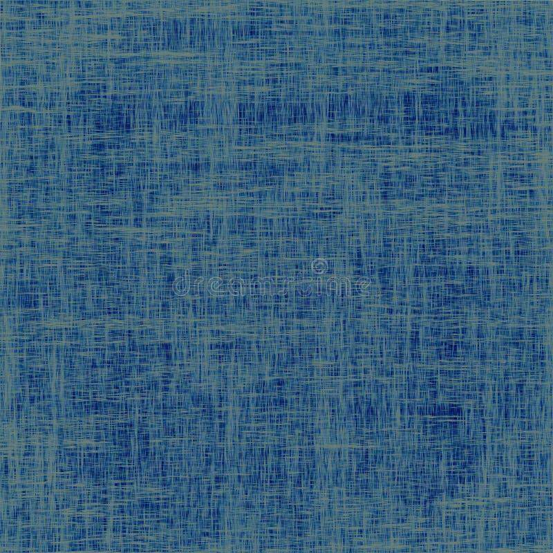 Textura azul velha do fundo da lona ilustração stock