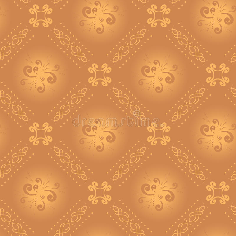 Textura bege clara sem emenda com rhombuses ilustração do vetor