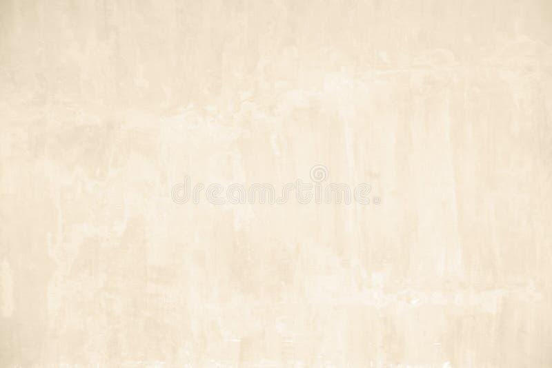 Textura bege do muro de cimento do grunge foto de stock