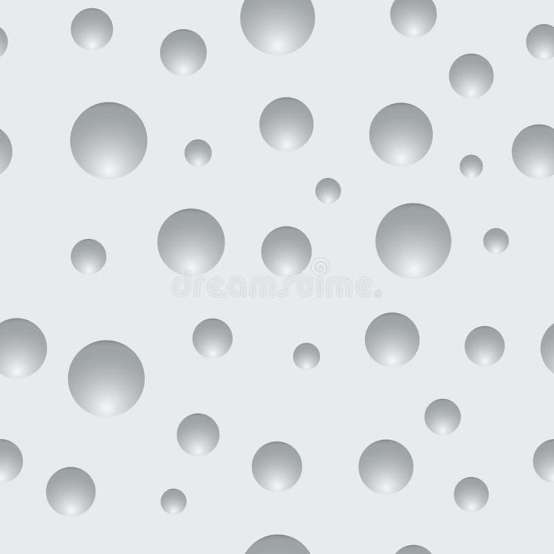 Textura blanca de la pared de las abolladuras redondas libre illustration