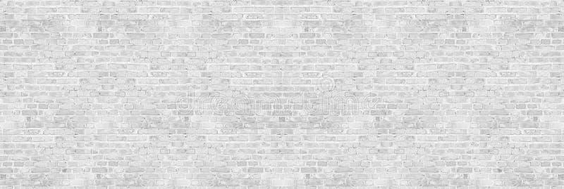 Textura blanca de la pared de ladrillo del lavado del vintage para el diseño Fondo panorámico foto de archivo libre de regalías