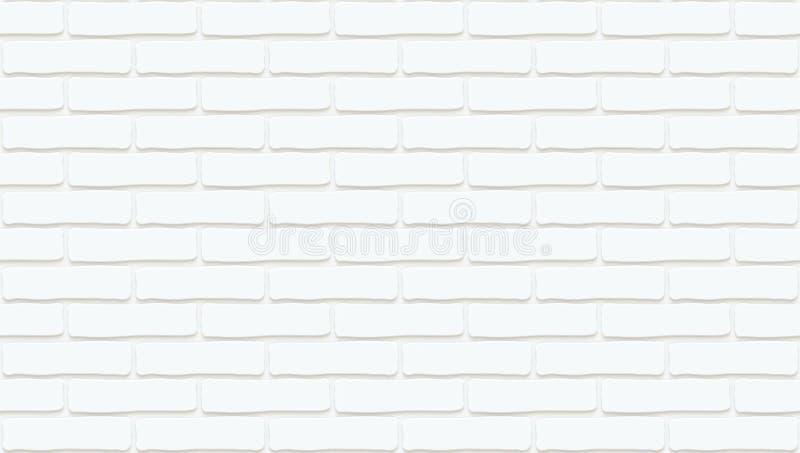 Textura blanca de la pared de ladrillo Fondo vacío El vintage practica obstruccionismo Interior del diseño del sitio Contexto par stock de ilustración