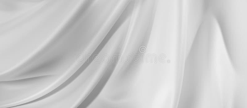 Textura blanca de la tela de seda imágenes de archivo libres de regalías