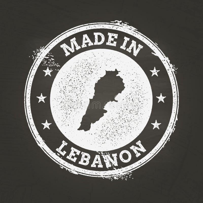 Textura blanca de la tiza hecha en sello con el libanés stock de ilustración