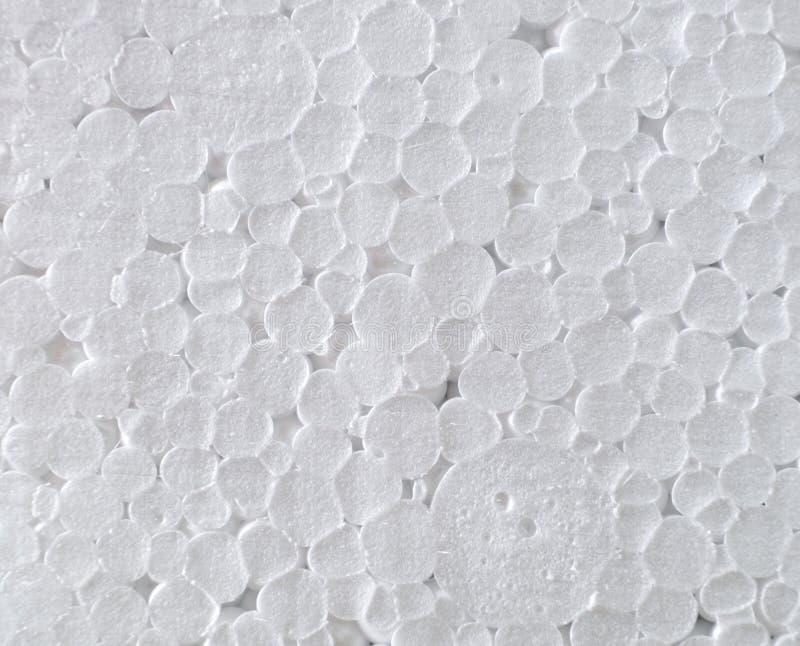 Textura blanca del círculo plástico químico de la espuma imagenes de archivo