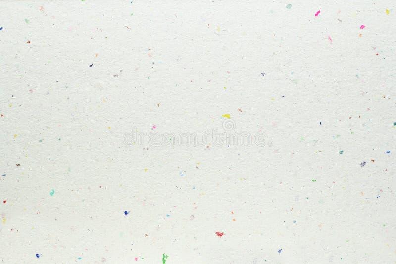 Textura blanca del papel hecho a mano imagen de archivo