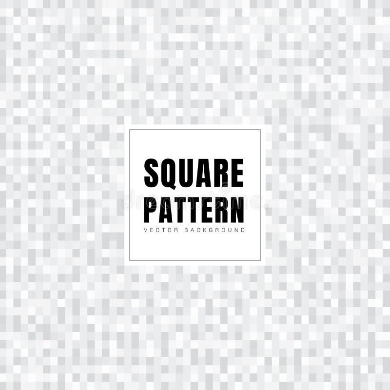 Textura blanca y gris abstracta del fondo del modelo de los cuadrados Estilo geométrico Rejilla del mosaico ilustración del vector