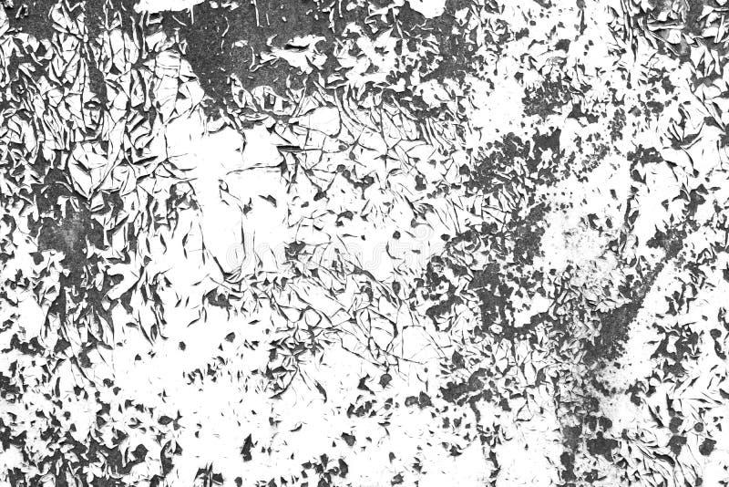 Textura blanco y negro apenada del grunge del contraste de la pintura imagen de archivo libre de regalías