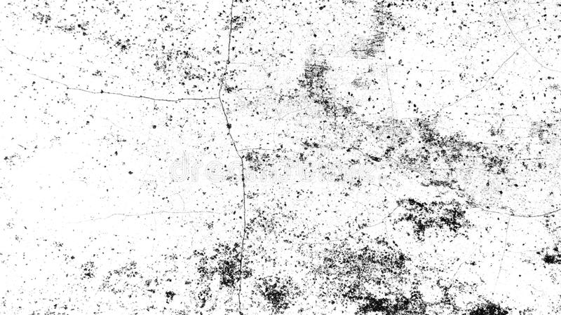 Textura blanco y negro apenada del grunge de semitono - textura del fondo concreto del piso para el extracto de la creación stock de ilustración
