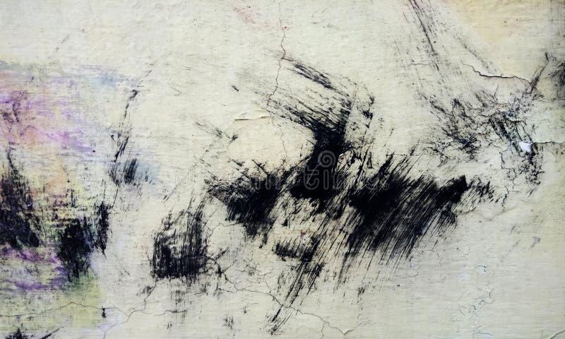 Textura blanco y negro apenada del grunge de semitono - textura del fondo concreto del piso para el extracto de la creaci?n foto de archivo