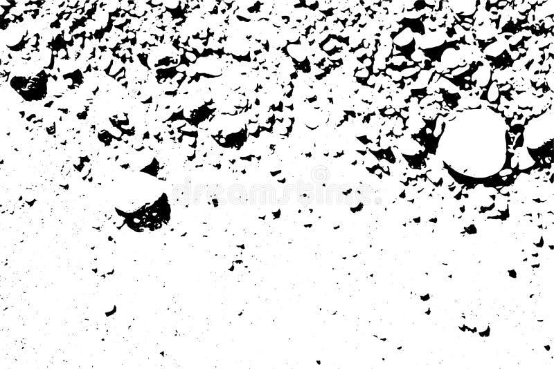 Textura blanco y negro apenada del vector del grunge de semitono - montaña stock de ilustración