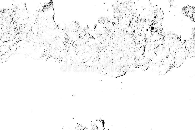 Textura blanco y negro apenada del vector del grunge de semitono - textura del viejo fondo de la pared para el vintage del extrac stock de ilustración