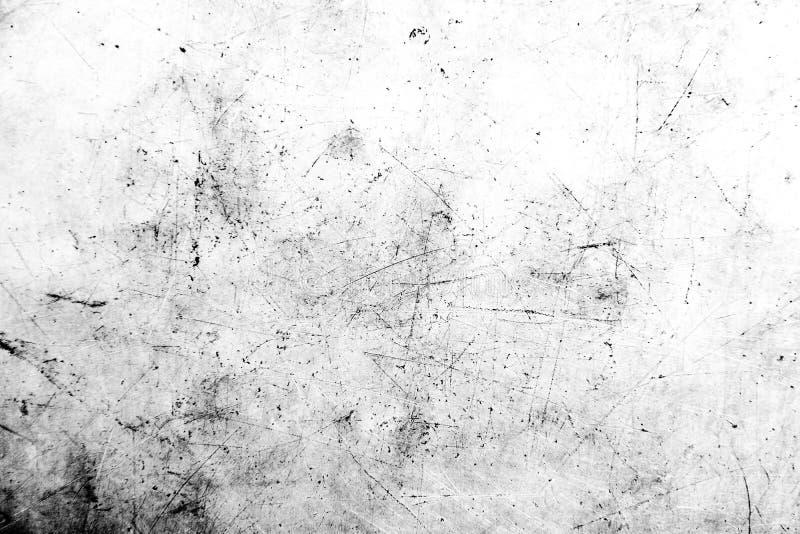 Textura blanco y negro de la desolaci?n del Grunge Textura del rasgu?o Textura sucia Fondo de la pared imagen de archivo libre de regalías