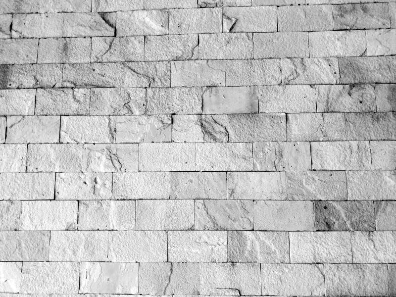 Textura blanco y negro de la pared de ladrillo del fondo imagen de archivo