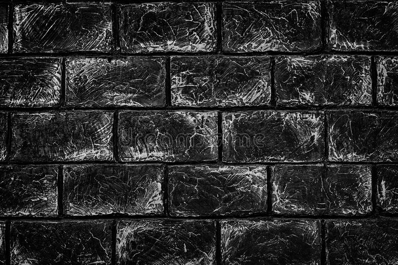 Textura blanco y negro de la pared de ladrillo - fondo urbano del grunge foto de archivo libre de regalías