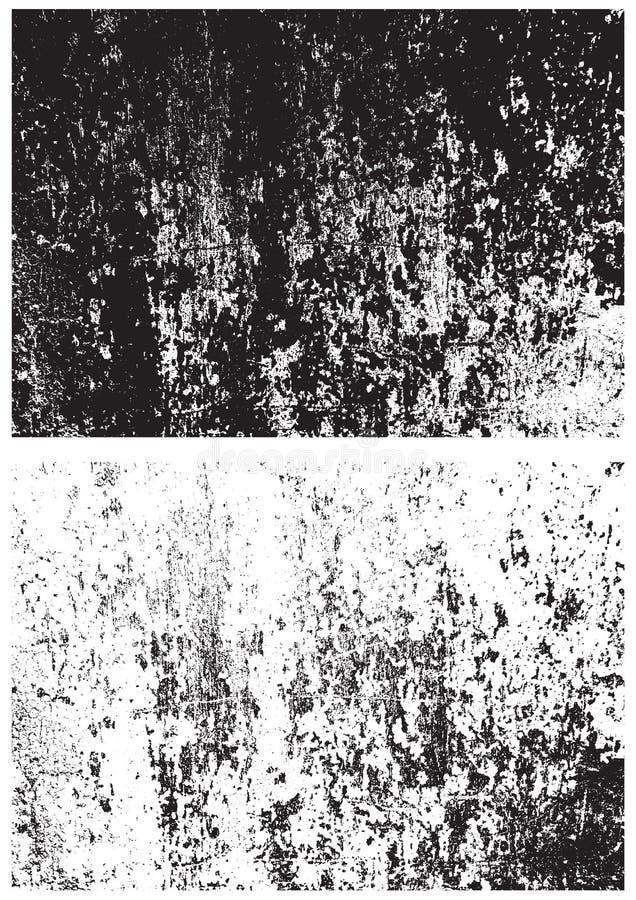 Textura blanco y negro del Grunge Textura de la desolación Textura del rasguño Fondo de la pared Textura del sello de goma Textur libre illustration