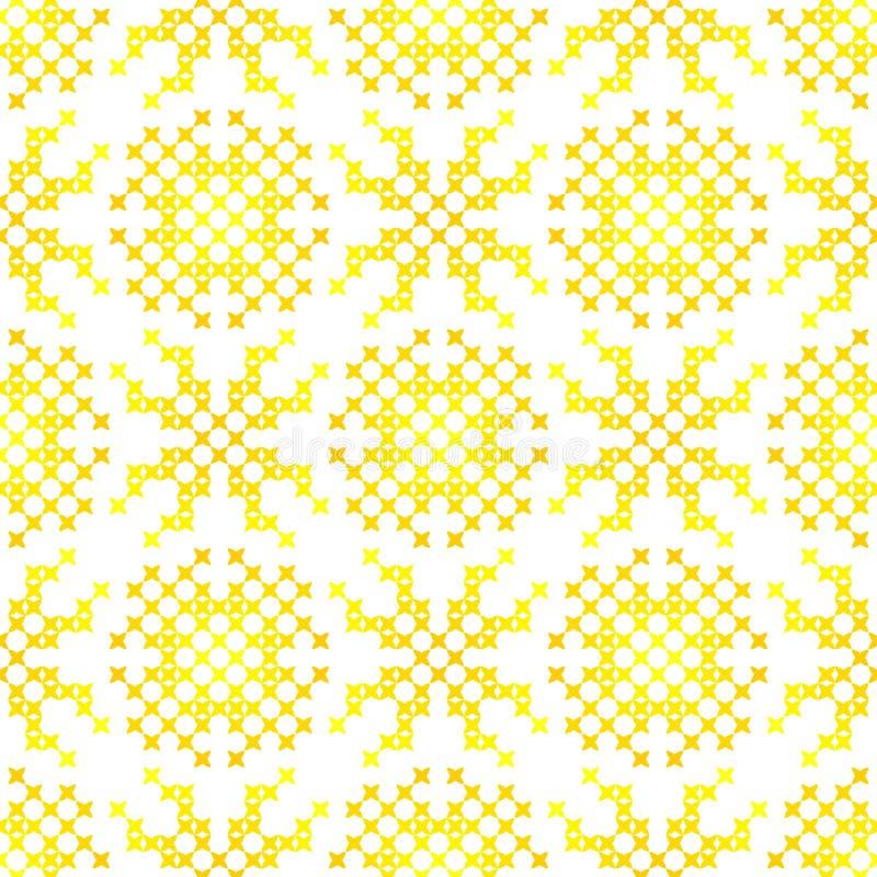 Textura bordada inconsútil de los modelos abstractos para el paño libre illustration