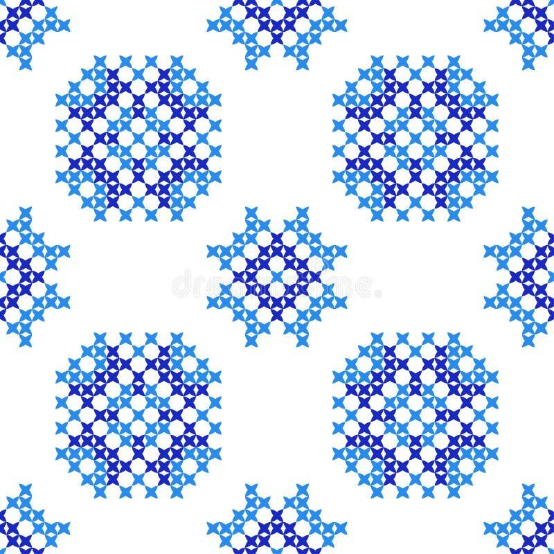 Textura bordada inconsútil de modelos azules abstractos libre illustration
