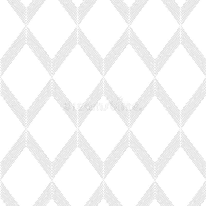 textura branca cinza no branco Fundo sem emenda com teste padrão geométrico abstrato Textura do garrancho ilustração do vetor