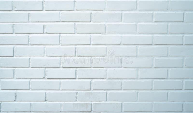 Textura branca da parede de tijolo, fundo moderno do estilo do sótão foto de stock