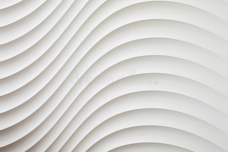 A textura branca da parede, teste padrão abstrato, acena o fundo moderno, geométrico ondulado da camada da sobreposição imagem de stock