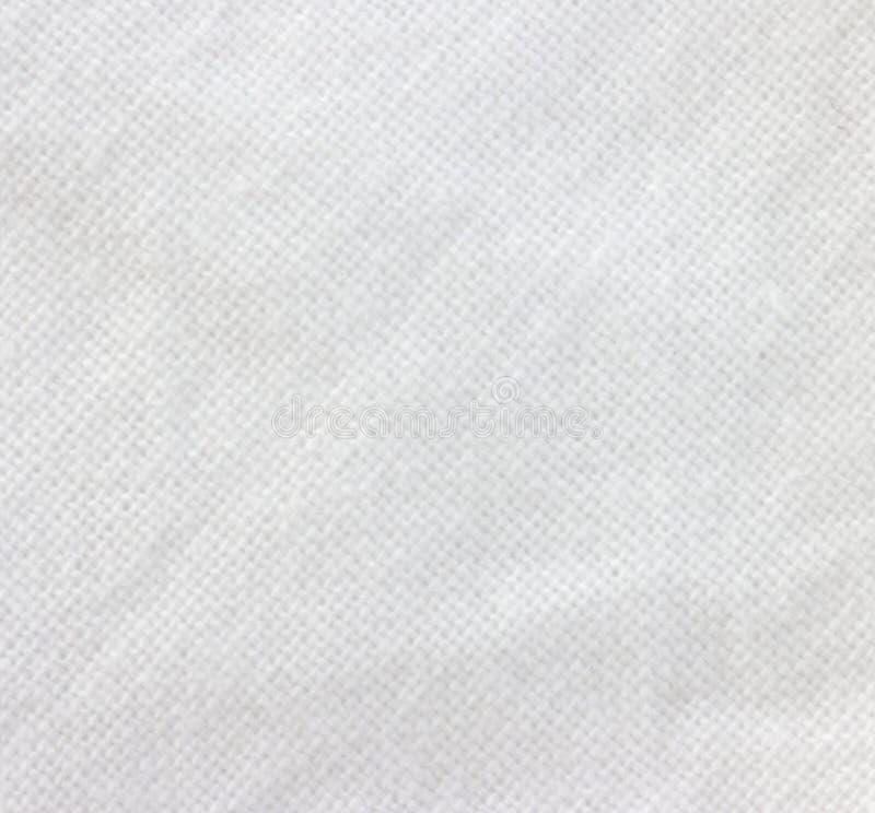 Textura branca de pano da tela fotografia de stock