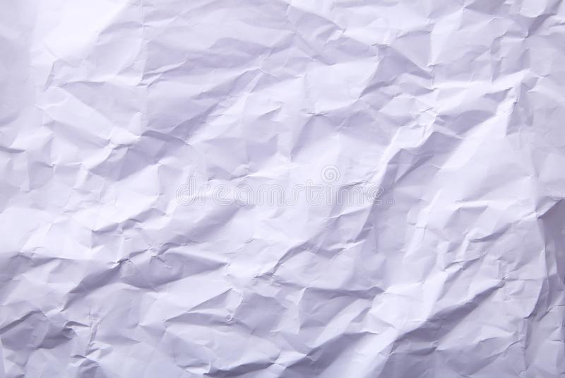 Textura branca de papel enrugada do fundo, foto macro imagem de stock