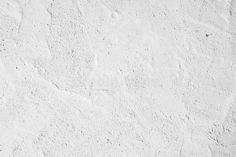 Textura branca decorativa do emplastro, fundo sem emenda Muro de cimento sujo, parede de pedra do fragmento detalhado alto ciment fotografia de stock royalty free