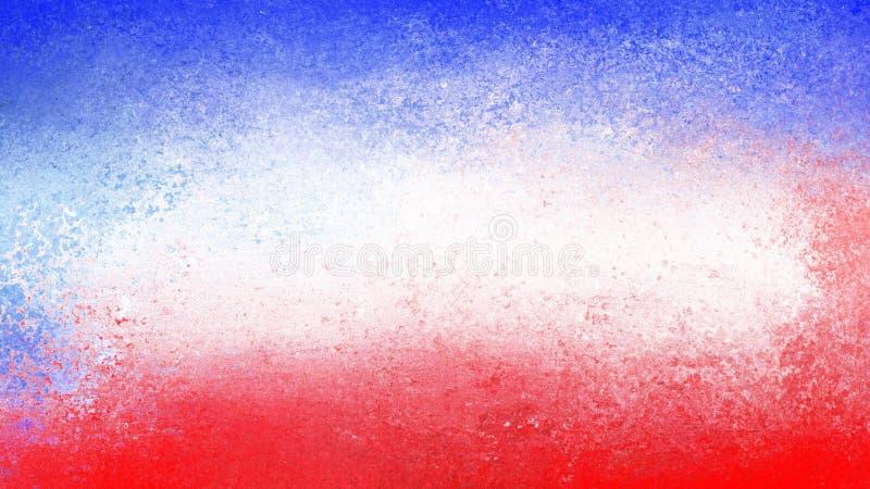 Textura branca e azul vermelha do grunge o 4 de julho ou projeto patriótico abstrato do fundo do feriado do vintage ilustração do vetor