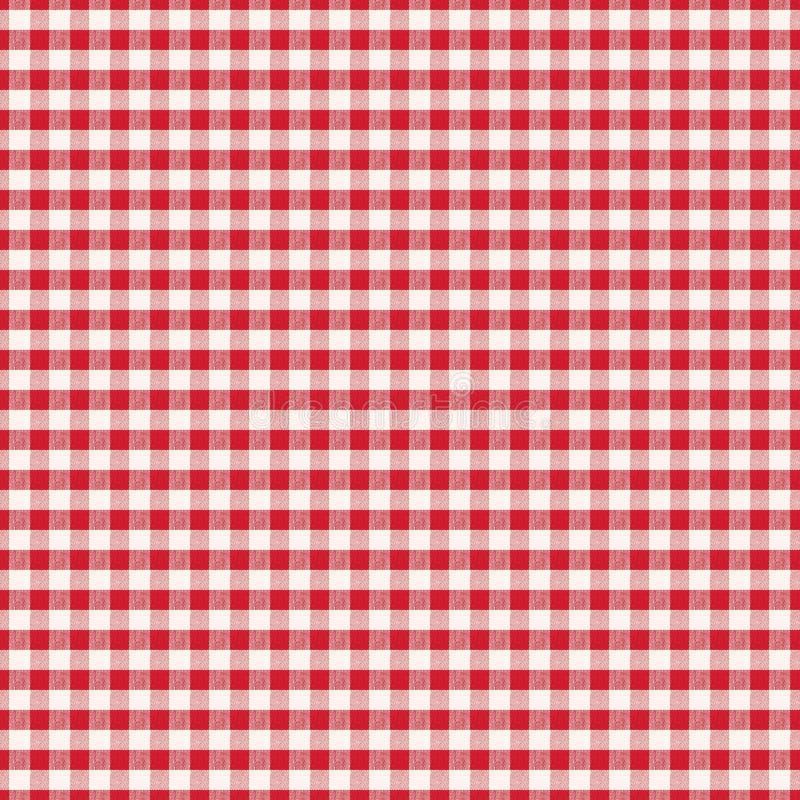 Textura branca sem emenda da tela em um fundo da pilha vermelha para o desig ilustração do vetor
